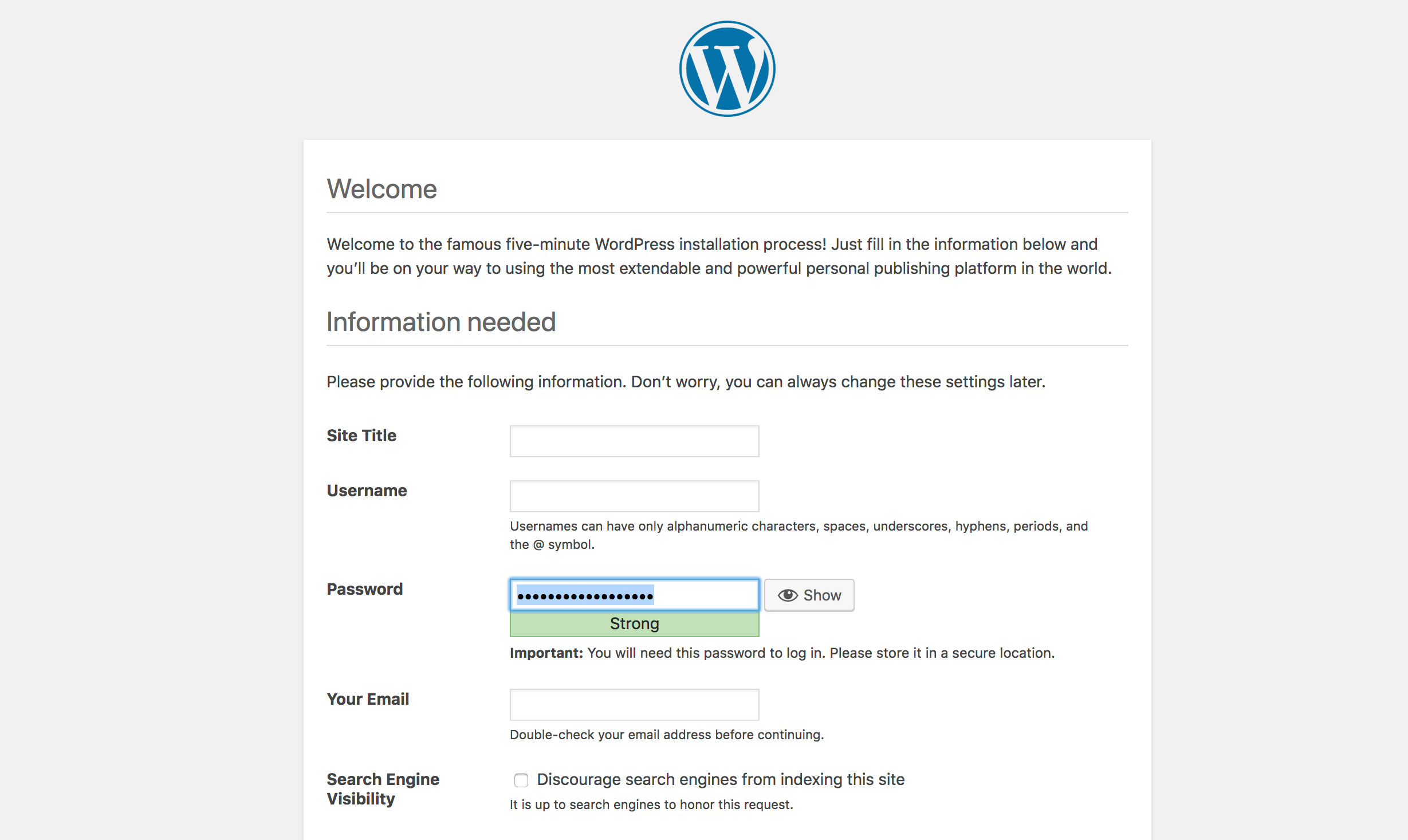 WordPress Success!