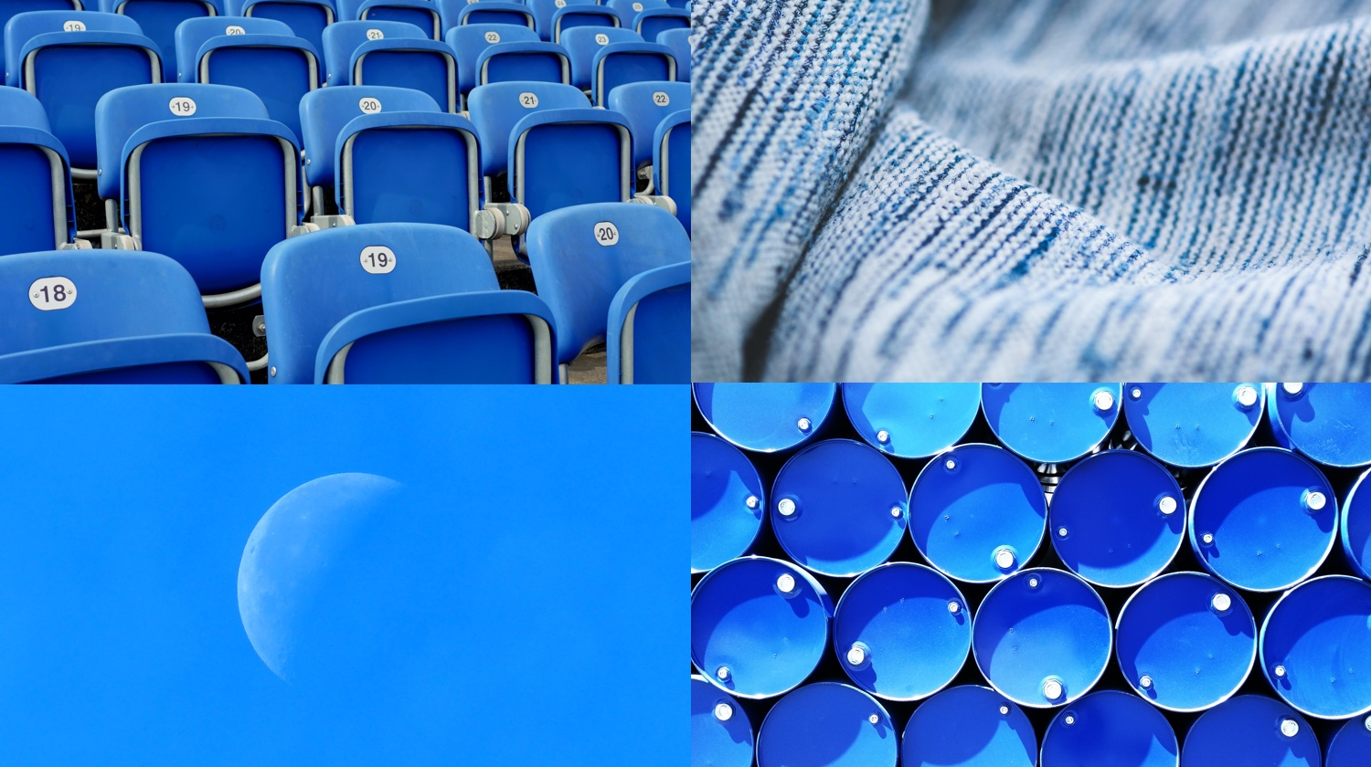 blue stock images of stadium seats, fabric, the moon, liquid drums